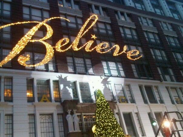 BELIEVE….HAPPY HOLIDAYS!