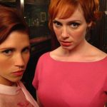 Christina Hendricks (Joan) and I looking fierce